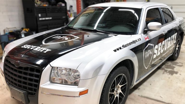 2005 Chrysler 300 Decals DPS Front - Vinyl Wrap Toronto - Lettering & Decals - Racing Stripes - Full Car Wrap