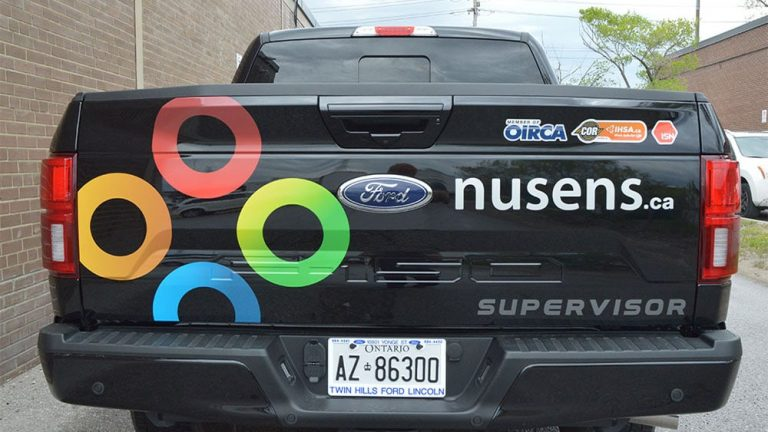 Ford F-150 2019 Super Crew 6.5 Box Decals - Supervisor 1 - Vinyl Wrap Toronto - Car Wrap - Lettering & Decals
