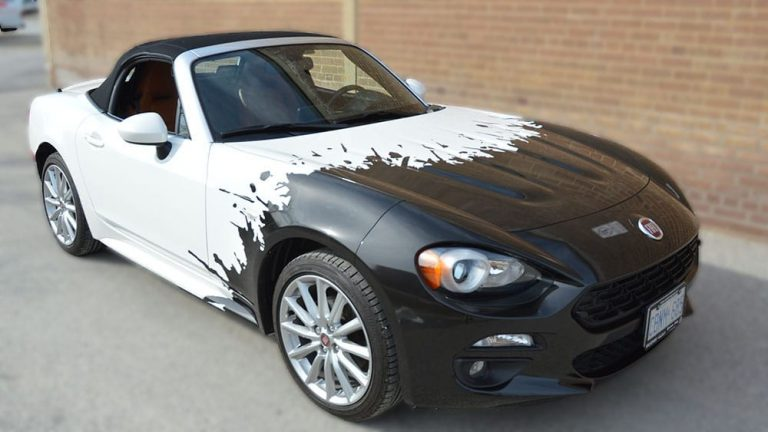 Fiat - 124 Spider - Partial Car Wrap - Personal - Vehicle Wrap in Etobicoke - Vehicle Wrap in Brampton