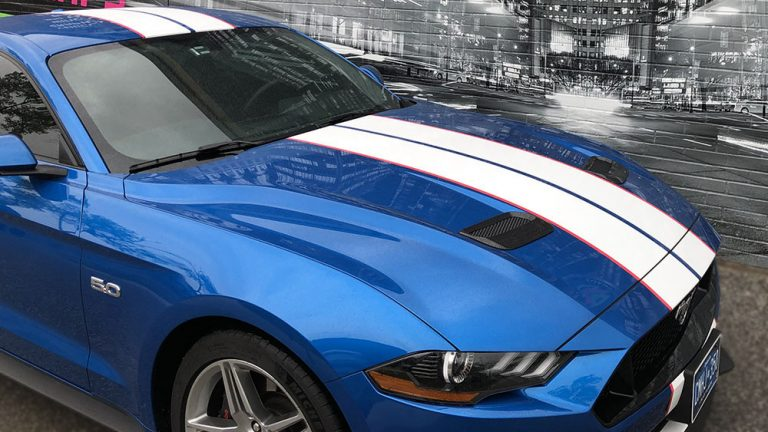 Ford - Mustang - 2019 - Car Lettering & Decals - Personal - Racing Stripes - Vinyl Wrap Toronto - Custom Vinyl Racing Stripes Cost