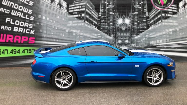 Ford Mustang 2019 Decals Personal side vinyl wrap Toronto - racing stripes, auto tinting, decals, Etobicoke, Car Wrap