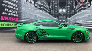 Ford Mustang Coyote 2019 Decals Personalside vinyl wrap Toronto - racing stripes, lettering, auto tinting, car wrap, GTA - Vehicle wrap