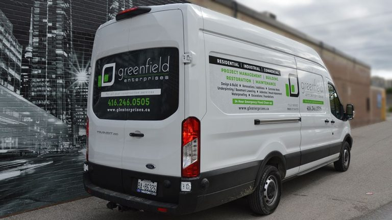 Ford - Transit Cargo - LWB Med Roof - Decals - GreenField - Lettering - Stickers - Vinyl Wrap Toronto - Van Wrap in GTA