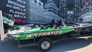 VinylWrapWrap Stratos Boat Full Wrap Avery Dennison Evinrude Inside After