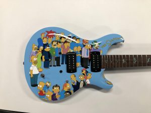 Full Wrap - Recreational - Guitar - The Simpsons Guitar Front After Blue Electric - Vinyl Wrap Toronto - 3M