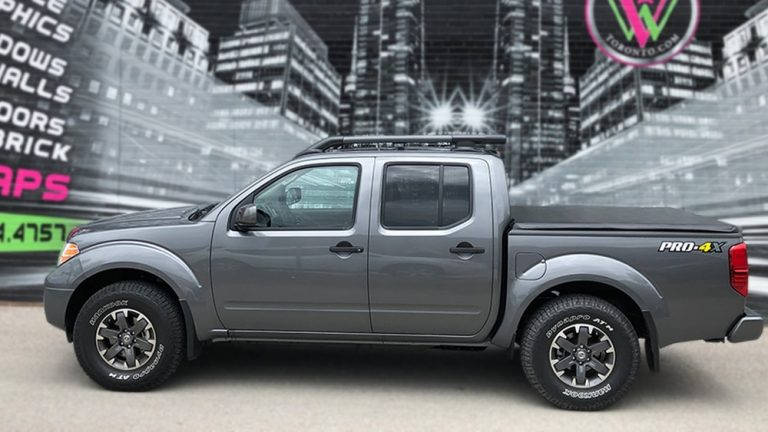 Full Wrap Nissan Frontier - sides - Vinyl Wrap Toronto - Truck Wrap in GTA - Racing Stripes - Decals