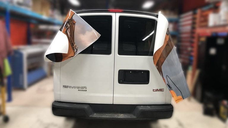 GMC - SAVANA - 2013_1 - Vinyl Wrap Toronto - Van Wrap, full wrap, decals, lettering, auto tinting, GTA - Vinyl Wrap Cost