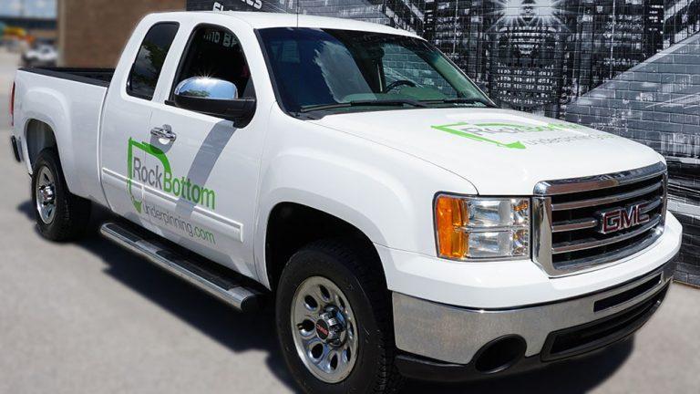 GMC - Sierra - 1500 - 2012 - Ext Cab Std Bed - Decals - RockBottom - Vinyl Wrap Toronto - Lettering - Avery Dennison & 3M - Vehicle Wrap in Brampton