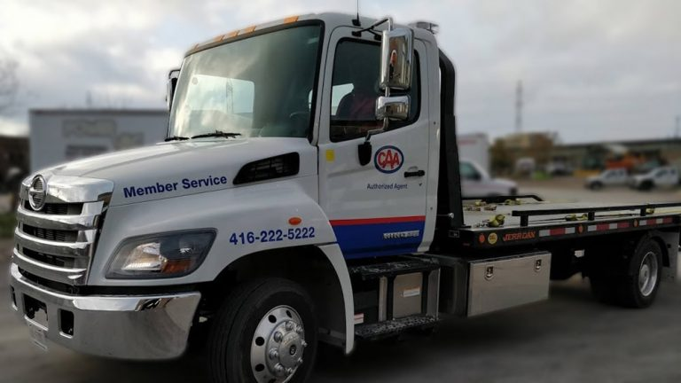 Hino - 258 - 2019 - Decals - CAA - Lettering - Vinyl Wrap Toronto - Avery Dennison & 3M - Vehicle Wrap in Mississauga