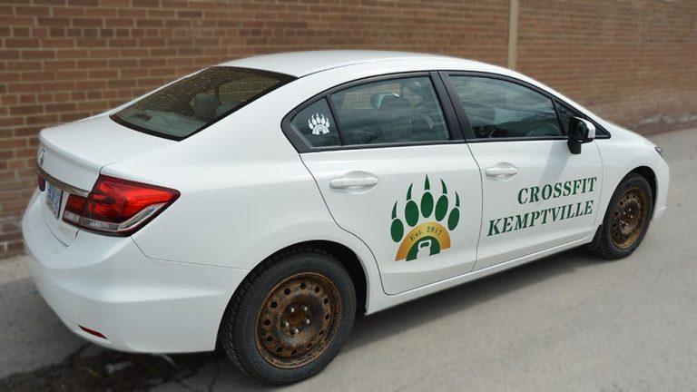 Honda - Civic - Car Lettering & Decals - Crossfit Kemptville - Vinyl Wrap Toronto - Commercial - Business - Custom Vinyl Wraps Cost