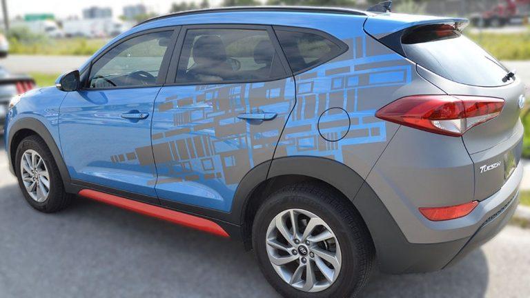 Hyundai SUV - Tuscan - 2018 - Partial - Personal - Vinyl Wrap Toronto - Window Tinting - Vehicle Wrap in GTA
