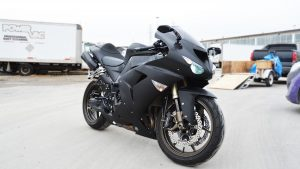 Vinyl Wrap Toronto Kawasaki Ninja ZX-10R 2019 Avery Dennison White Motorcycle Full Vinyl Wrap Toronto After - Bike Wrap