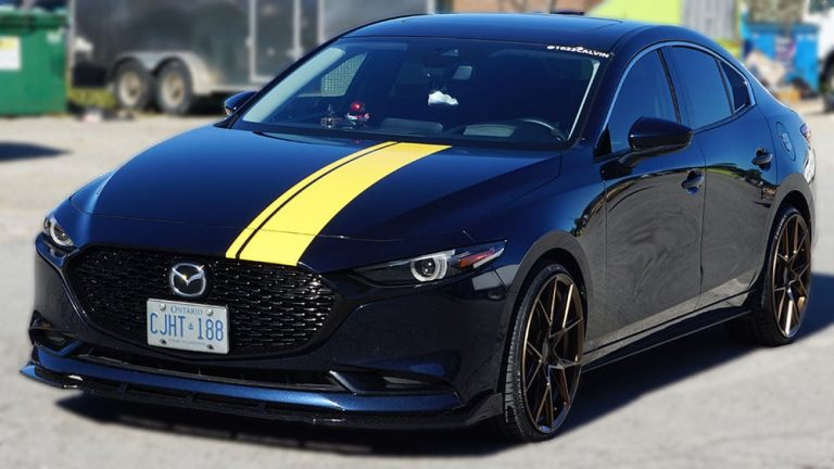 Mazda - 3 - 2019 - Decals - Personal - Racing Stripes - Vinyl Wrap Toronto - Vehicle Wrap in Etobicoke - Custom Vinyl Racing Stripes Cost