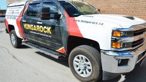 Partial Truck Wrap - Hungarock Seirra - Vinyl Wrap Toronto - Vehicle Wrap - Racing Stripes - Window Tinting - Lettering & Decals
