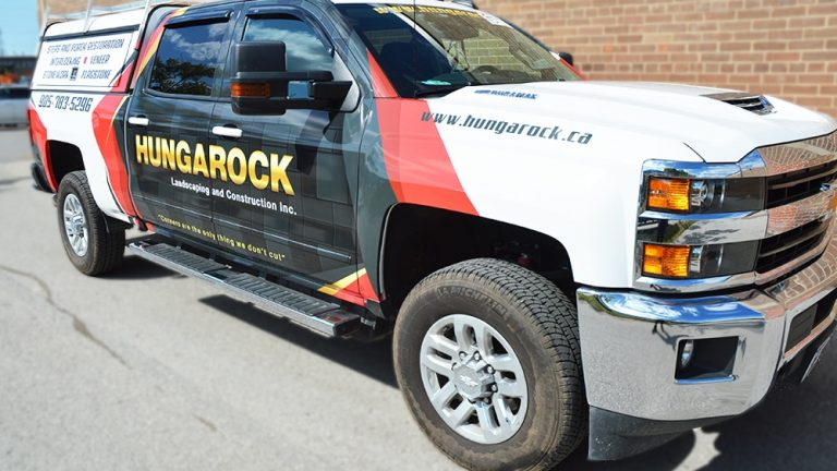 Partial Wrap Truck Hungarock Seirra Side After - Vinyl Wrap Toronto - Truck Wrap, decals, full wrap, Avery Dennison, 3M, GTA