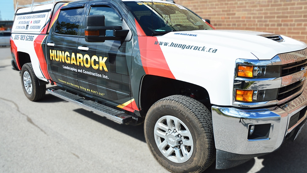 Partial Wrap Truck Hungarock Seirra Side After - Vinyl Wrap Toronto - Truck Wrap, decals, full wrap, Avery Dennison, 3M, GTA - Avery and 3M Vinyl
