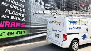 Van Lettering & Decals - Home Free Nissan - Business advertising - Vinyl Wrap Toronto - Home Free Nissan - Auto Tinting