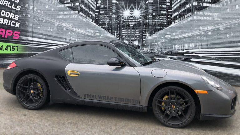 Porsche - Cayman - 2014 - Full - Personal - Vinyl Wrap Toronto - Custom Vinyl Wraps Cost