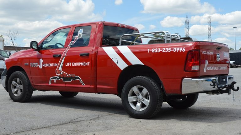 RAM - 1500 - Tradesman - 2018 - Decals - Momentum Lift - Lettering - Vinyl Wrap Toronto - Avery Dennison & 3M - Vehicle Wrap in Mississauga