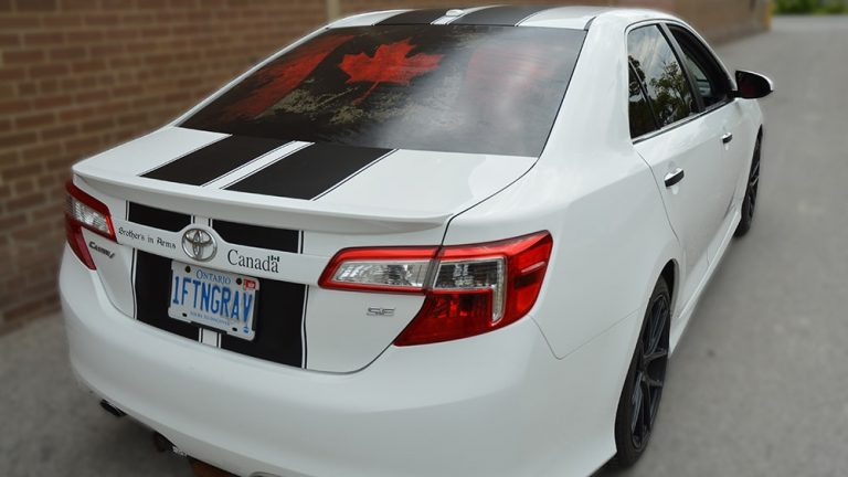 Toyota - Camry - SE - 2019 - Car Lettering & Decals - Personal - Vinyl Wrap Toronto - Racing Stripes - Vehicle Wrap In Mississauga - Custom Vehicle Wrap Cost