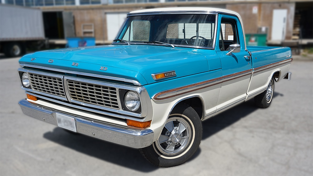 Vehicle Decals - Ford F100 - Lettering andDecals - Personal - Front Left - Vinyl Wrap Toronto - Avery Dennison - Vehicle Wrap in GTA