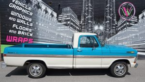 Vehicle Decals - Ford F100 - Lettering and Decals - Personal - Side - Vinyl Wrap Toronto - Avery Dennison - Vehicle Wrap in GTA - Truck decals cost