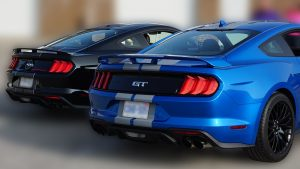 Ford Mustang - 2019 California Special Blue and Black - Stripes - Personal - Back - Vinyl Wrap Toronto - Stripes