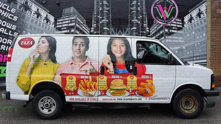 GMC - Savana - 2016 - Full - Taza - Van Wrap - Vehicle Wrap in Mississauga - Vinyl Wrap Toronto - Van wrap in GTA