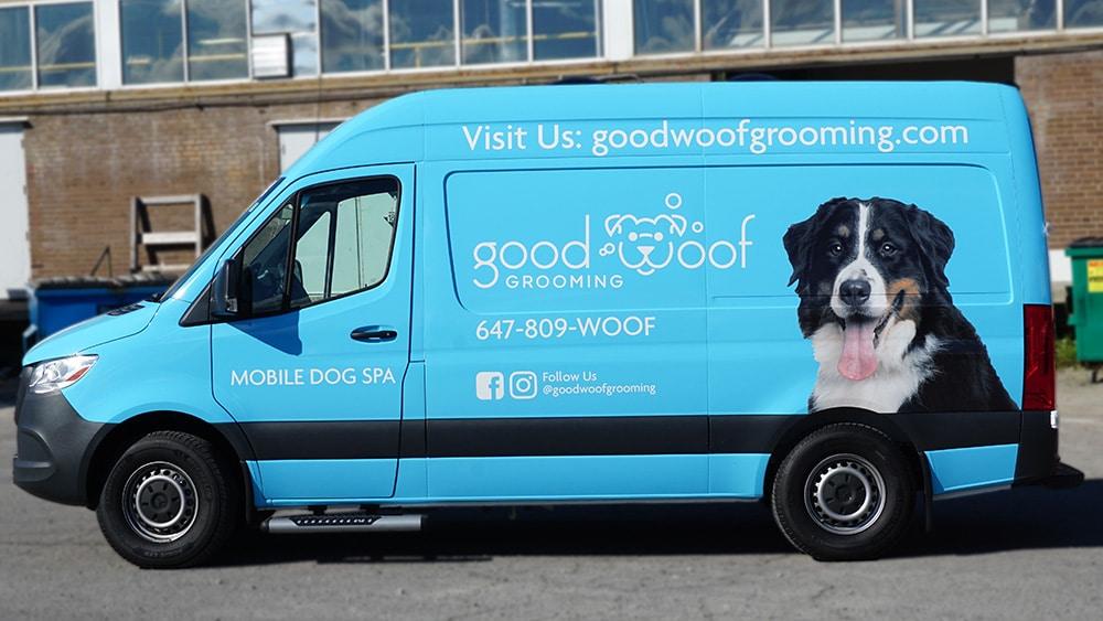 Good Woof - Full - Vinyl Wrap Toronto - Van Wrap - Vehicle Wrap In GTA - Van wrap cost in GTA