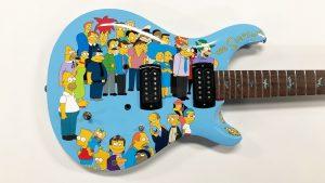 Guitar Wrap - Object Wrap - Vinyl Wrap Toronto - Equipment Wrap - The Simpsons - Custom Design - Mississauga