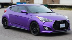 Hyundai Veloster - 2016 Full Wrap - Personal - Full Wrap Truck Wrap in Toronto - Paint Protection Films - Avery Dennison & 3M - Satin Purple - Etobicoke