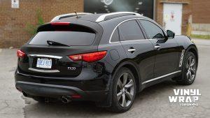 Infiniti FX50 - Partial Wrap - Carbon Fibre - Vinyl Wrap Toronto - Back - Avery Dennison & 3M - Decals - Vehicle Wrap in GTA