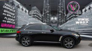 Infiniti FX50 - Partial Wrap - Carbon Fibre - Vinyl Wrap Toronto - Side 2 - Carbon Fiber - Avery Dennison & 3M - Truck Wrap in Mississauga - vehicle wrap in GTA