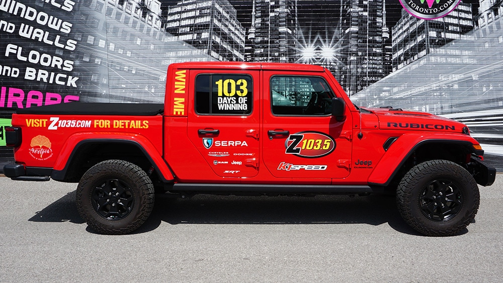 Lettering and decals - Jeep Lettering & Decals - Vehicle wrap cost in GTA - Avery and 3M Vinyl