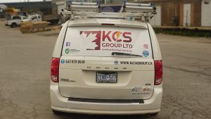 KCS - Dodge Grand Caravan - 2011 - vehicle Decals - Back - Vinyl Wrap Toronto - Car Wrap - Truck Wrap - Lettering & Decals