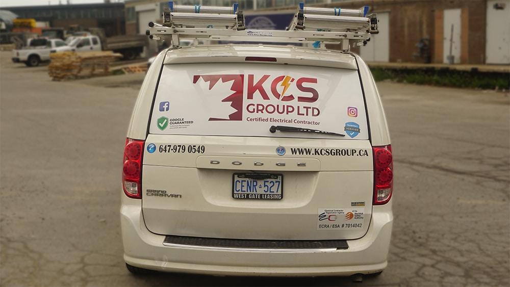 KCS - Dodge Grand Caravan - 2011 - Decals - Back - Vinyl Wrap Toronto - Car Wrap - Truck Wrap - Lettering & Decals