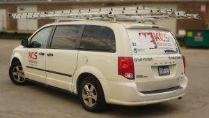 KCS - Dodge Grand Caravan - 2011 - Decals - side 2 - Vinyl Wrap Toronto - Lettering & Decals - Truck Wrap