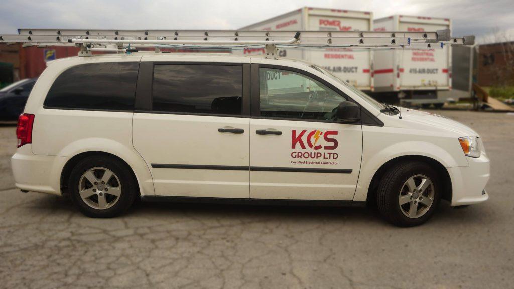 KCS - Dodge Grand Caravan - 2011 - Decals - side - Vinyl Wrap Toronto - Lettering & Decals - Truck Wrap - Car Wrap in Brampton - Custom van decals near me