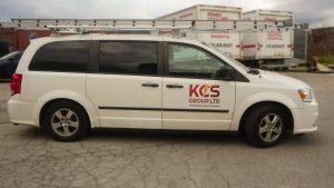 KCS - Dodge Grand Caravan - 2011 - Decals - side - Vinyl Wrap Toronto - Lettering & Decals - Truck Wrap - Car Wrap in Brampton