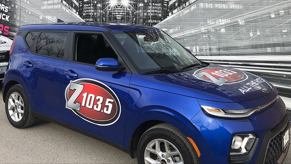 Kia - Soul - 2019 - Decals - Z103.5 - vehicle decals - Car wrap in GTA - Lettering & Decals - Avery and 3M Vinyl