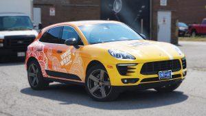 Porsche Macan 2016 - Vinyl Wrap Toronto - Full Car Wrap - Brampton - Side Front - Vehicle Wrap - Decals - Avery Dennison & 3M
