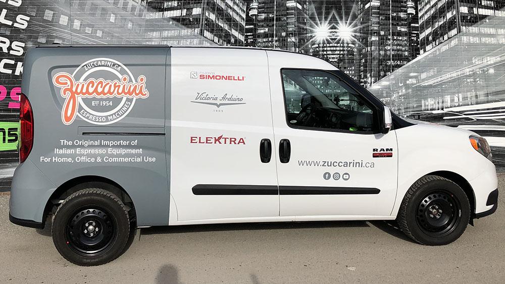 RAM - Promaster City - 2019 - Partial - Zuccarini - Van Wrap - Vinyl Wrap Toronto - Vehicle Wrap in Etobicoke - van decals cost