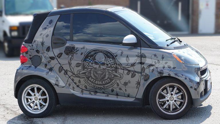 Smart - Fortwo - Cabriolet - 2008 - Full - Vinyl Wrap Toronto - Car wrap cost in Toronto GTA