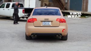 Audi A4 2006 - Full Car Wrap - VinylWrapToronto.com - Sand Vinyl Wrap Toronto - Vehicle Wrap - Back
