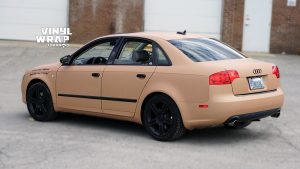 Audi A4 2006 - Full Car Wrap - VinylWrapToronto.com - Sand Vinyl Wrap Toronto - Vehicle Wrap - Side Back