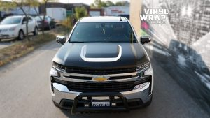 Chevrolet Silverado Z71 - Truck Decals - VinylWrapToronto.com - Vinyl Wrap Toronto - Vehicle Wrap in GTA - After - Front