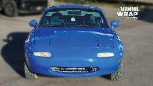 Mazda Miata 1990 - VinylWrapToronto.com - Full Wrap - Vinyl Wrap Toronto - Personal - After - Front - Custom car wrap near me