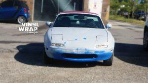 Mazda Miata 1990 - VinylWrapToronto.com - Full Wrap - Vinyl Wrap Toronto - Personal - Before - Front - Vehicle wrap near me