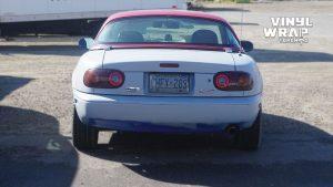 Mazda Miata 1990 - VinylWrapToronto.com - Full Wrap - Vinyl Wrap Toronto - Personal - Before - Back - Custom car wrap in GTA
