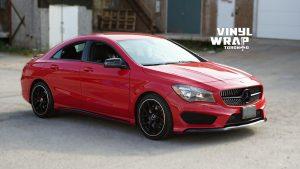 Mercedes Silva - VinylWrapToronto.com - Chrome Delete - Vinyl Wrap Toronto - Vehicle Wrap in GTA - After - Front Side 2